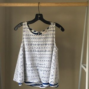 Anthro | Nautical Knitted Top